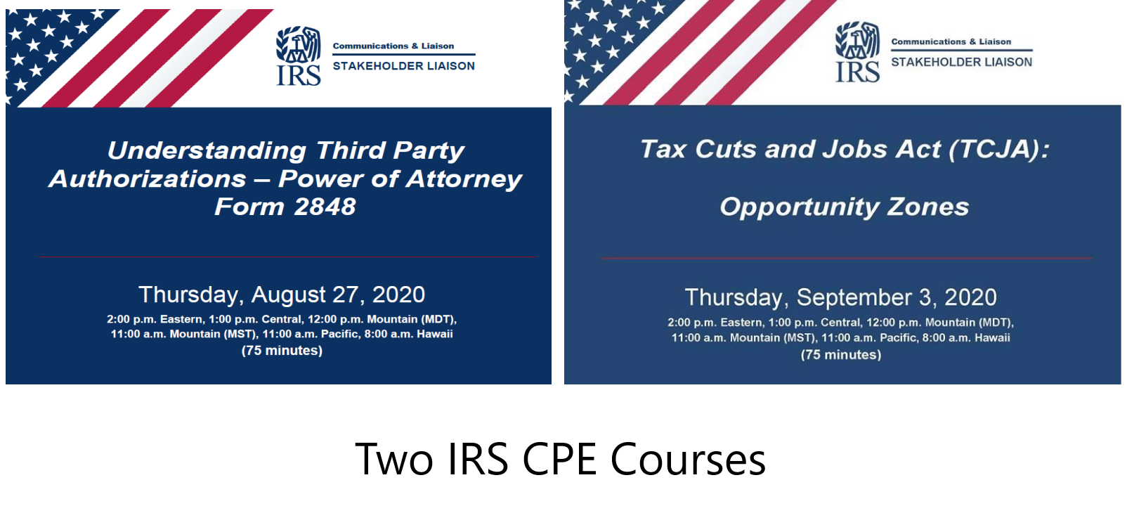 Two IRS CPE Courses